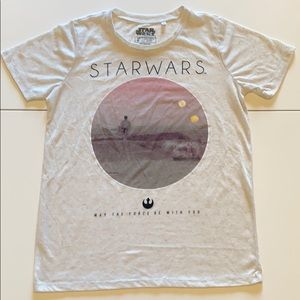STAR WARS Let The Force Be With You Tshirt likenew